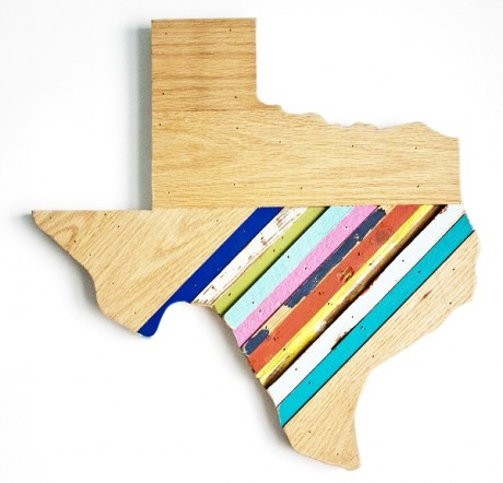 Reclaimed Texas Wall Hanging, #79