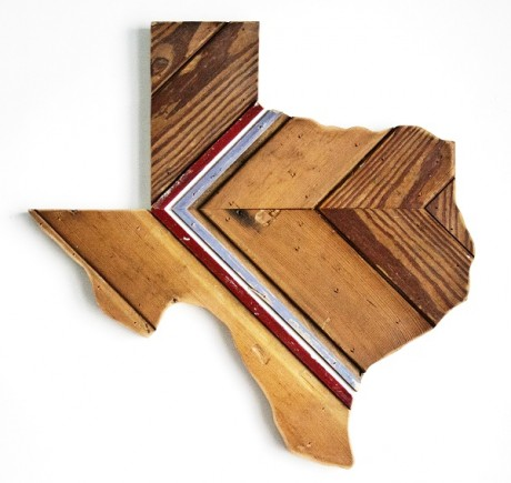 Reclaimed Texas Wall Hanging, #80
