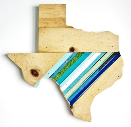 Reclaimed Texas Wall Hanging, #81